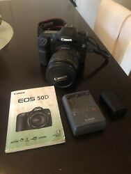 Canon Eos 50d Camera With 28-135 Mm Zoom Lens And Charger