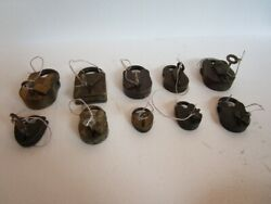 Lot Of 10 Pieces Antique Brass Padlock - Lock With Key - Brass Made 604