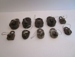 Lot Of 10 Pieces Antique Brass Padlock - Lock With Key - Brass Made 615