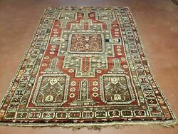 5and039 X 7and039 Antique Hand Made Caucasian Shirvan Wool Rug Carpet Detailed Nice