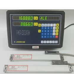 2 Axis Dro Digital Readout For Milling Lathe Machine With Linear Scale 1um