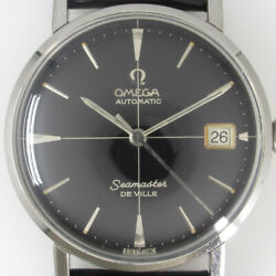 Omega Seamaster De Ville 14910sc-62 Black Gilt Dial Auto Vintage Watch 1963and039s Oh