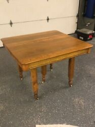 Antique Oak Table And Chairs Turn Of The 20th Century John A. Dunn Co.
