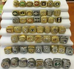 Football Champions Championship Rings Trophies Prizes All Years