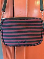 BIMBA Y LOLA CANVAS  LEATHER CROSS BODY PURSE--RECONDITIONED--EXCELLENT
