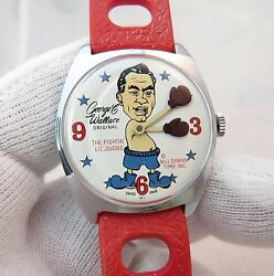 George C Wallace Fighting Little Judgemanual Wind.ultra Rare Menand039s Watch539