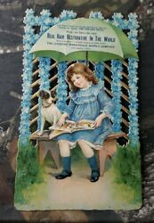 Antique Victorian Embossed Die Cut Advertisement Trade Card Citizen Supply Co