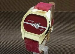 Sanford Jumping Hour Retro Future Red Color Hand Winding Menand039s Watch