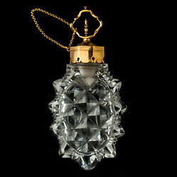 18th Century Antique Gold Mounted Cut Crystal Glass Scent Bottle France C.1760