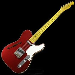 New Fender Custom Roasted Pine Double Esquire Custom Relic Aged Fire Mist Red