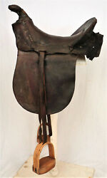 Antique Attakapas Style Spanish Saddle, Mexican War, Civil War, Early-mid 1800c