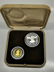 Thailand Rama 9 Proof Set Gold 1981 4000 Baht And Silver 250 Year Of The Child