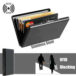 Business Card Holder Box Stainless Steel Storage ID Credit Case Name Card Cute