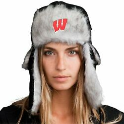 Bomber Hat + Licensed Wisconsin Badgers Pin Included