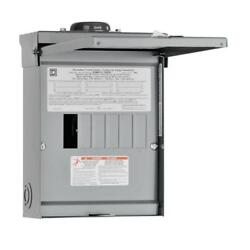 Square D Outdoor Load Center 100-amp Rainproof 6-space Single Phase 12-circuit