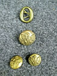 Original Indian War Era Eagle Coat And Cuff Buttons With O Hat Letter Non Dug