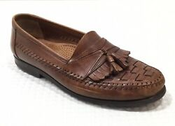 Giorgio Brutini Mens Monitor Slip-On Brown Leather Tassel Loafers Size 11D Shoes $19.95