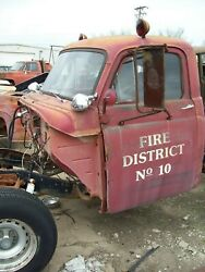 50's Dodge Truck Cab And Doors Hood Grill Fenders American Lafrance Fire