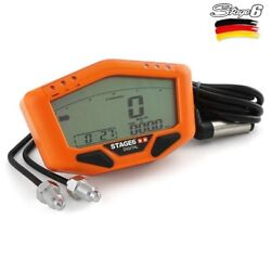 Instrumentation Universal Contakm Tachometer Engine To 12v Orange Stage6
