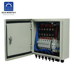 Metal Pv Solar Combiner Box Surge Lighting Protection For Solar Panel System