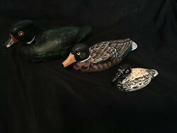 """Vintage Carved And Hand Painted Ducks Collectable """"farmhouse Decor"""""""