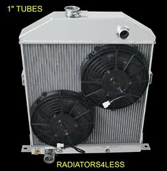 Champion 2 Row Aluminum Radiator 10 Fans 42 43 44 45 46 47 48 Ford Coupe Cars