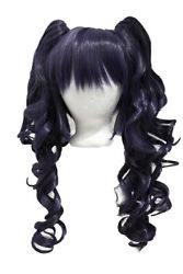 23'' Curly Pig Tails + Base Eggplant Purple Cosplay Wig NEW