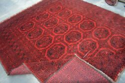 F2584 Antique Hand Knotted Afghan Turkman Filpai Wool Area Rug 6and03910 X 8and0395 Feet