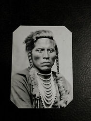 Historical Tintype Reproduction Native American Curly,custer's Crow Scout C585rp