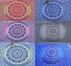 New Lot of 6 Indian Hippie Mandala Tapestry Bohemian Bedspread Ethnic Dorm Decor