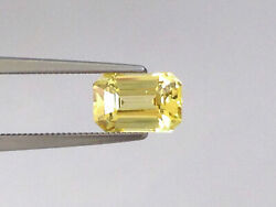Natural Unheated Yellow Sapphire Yellow Color Octagonal Shape 2.00 Carats Gia