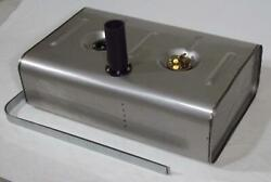 Tanks Inc. Universal Stainless Steel Fuel Tank W/ 2 Od Neck And 6 Hose Utss-2h