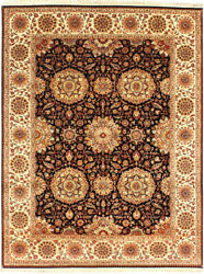 9x12 Oriental Rug And039himasaand039 Hand-knotted Wool Area Rugs Home Geometric Carpet New