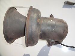 Vintage Federal Sign And Signal Military Siren 24v Untested. Parts Only