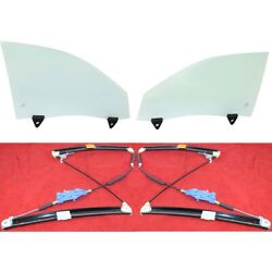 Door Glasses Set Of 4 Front Left-and-right Sedan Lh And Rh For Audi A4 Quattro S4