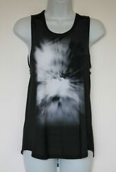 HPE S Womens Sunrise Open Back Drape Tank Top Shirt Breathe Ice NWT