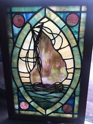 Tiffany Type Stained Glass Antique Window