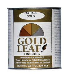 Sheffield 5714 Gold-leaf Pale Solvent-based Metallic Paint 1 Qt. Pack Of 6