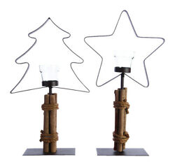 Decoris Iron Tealight Holder Christmas Decoration Brown Metal 1 Pk (Pk 12)