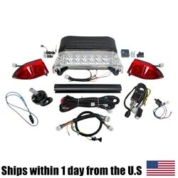 Led Light Kit Fits Electric Club Car Gas Precedent Gtw Mid 2008-up Golf Carts