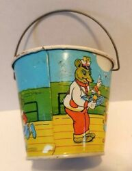 Tin Lithographed Sand Pail