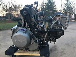 07 Ducati Monster S2r 800 Running Engine Motor Good Compression Video Tested