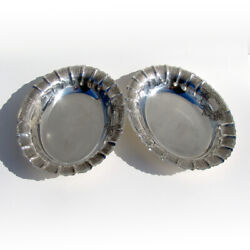 Tuttle George Ii Vegetable Dishes Pair Sterling Silver 1929 Mono