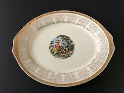 Homer Lauglin Mojen China Hlc804 Colonial Couple George Martha 14 Oval Platter