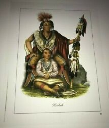 Print Of Chief Keokuk With His Son, Moses, Enlarged Size