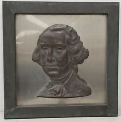 Rare Early 20th Century Bronze Wall Plaque Of George Washington C.1920s To 1930s