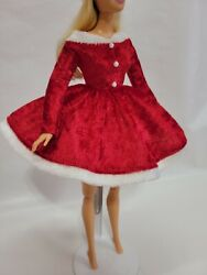 Christmas doll dress Handmade Clothes for doll 11 11.5 12in $12.00