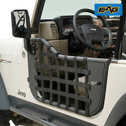 EAG Matrix Steel Tube Door with Side Mirror Pair Fit for 97-06 Jeep TJ Wrangler