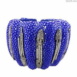 925 Sterling Silver 2.8ct Pave Diamond Cuff Bracelet Jewelry Friendship Day Gift