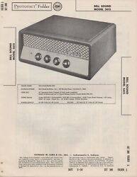 1958 Bell Sound 5615 Tube Amplifier Service Manual Photofact Schematic Diagram